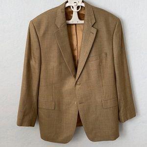 Ralph Lauren Plaid Silk/Wool 2 Button Suit Jacket